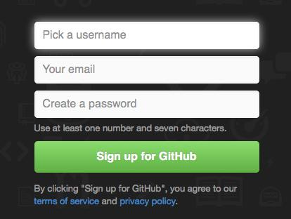 GitHub signup